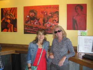 Posed for pictures in groovy coffeehouses where chicks with unshaved legs reeked of patchouli. Pic stolen from Amy. Thx.